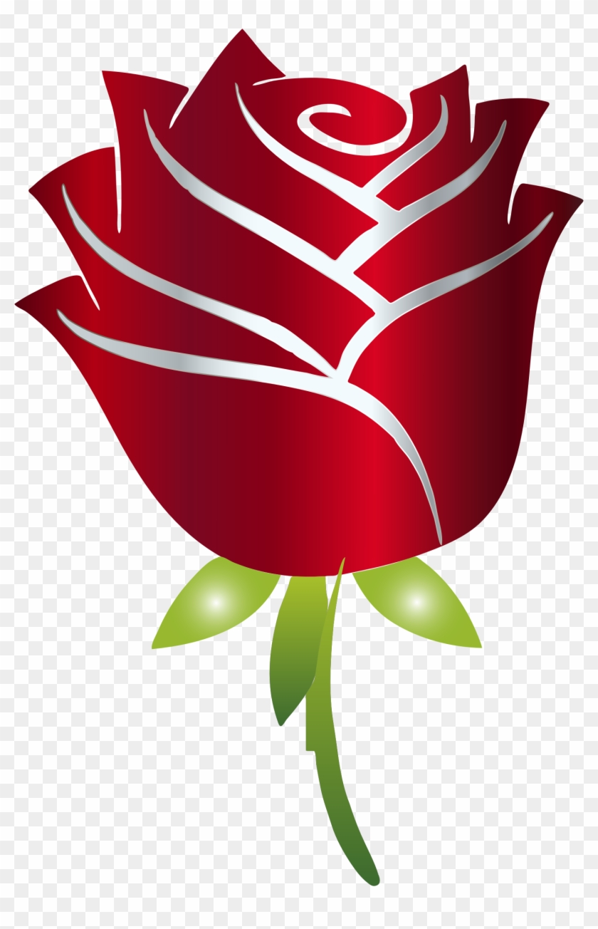 This Free Icons Png Design Of Stylized Rose Enhanced - Beauty And The Beast Rose Png Clipart #4790774