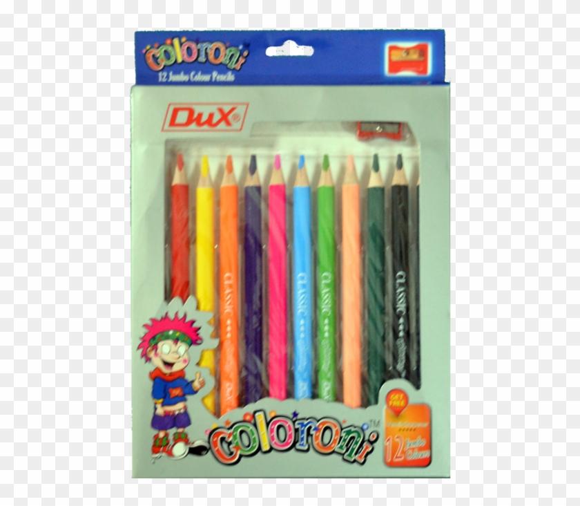 Dux Jumbo Colour Pencil Clipart #4795685