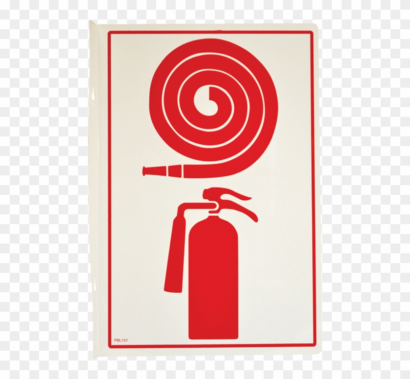 Fire Hose And Extinguisher Pictogram - Fire Hose Cabinet With Fire Extinguisher Clipart #4797717