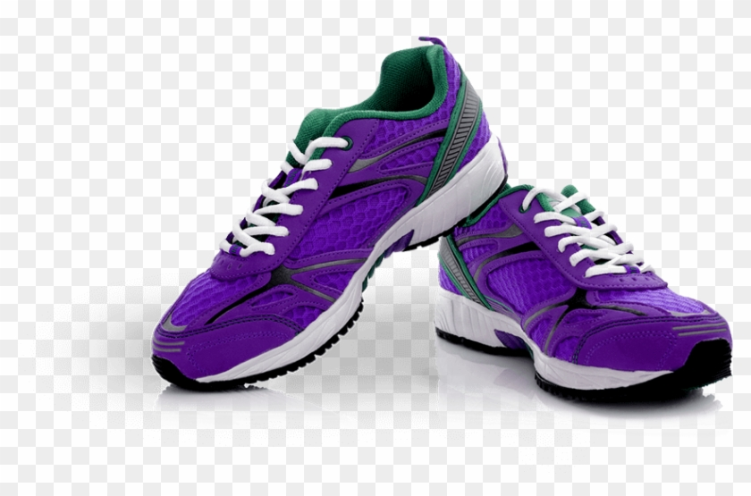 Gym Shoes Png Background Image - Purple Running Shoes Png Clipart #480254