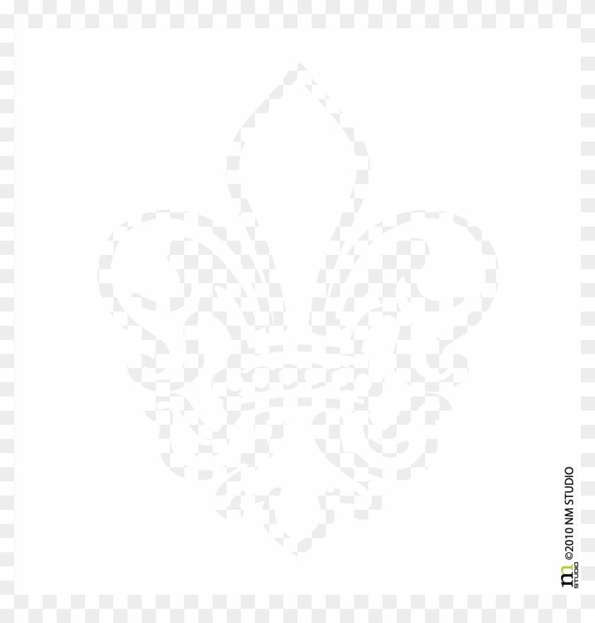 Sheraton Fleur De Lis Car Decal - Fleur De Lis Coloring Page Clipart #481409