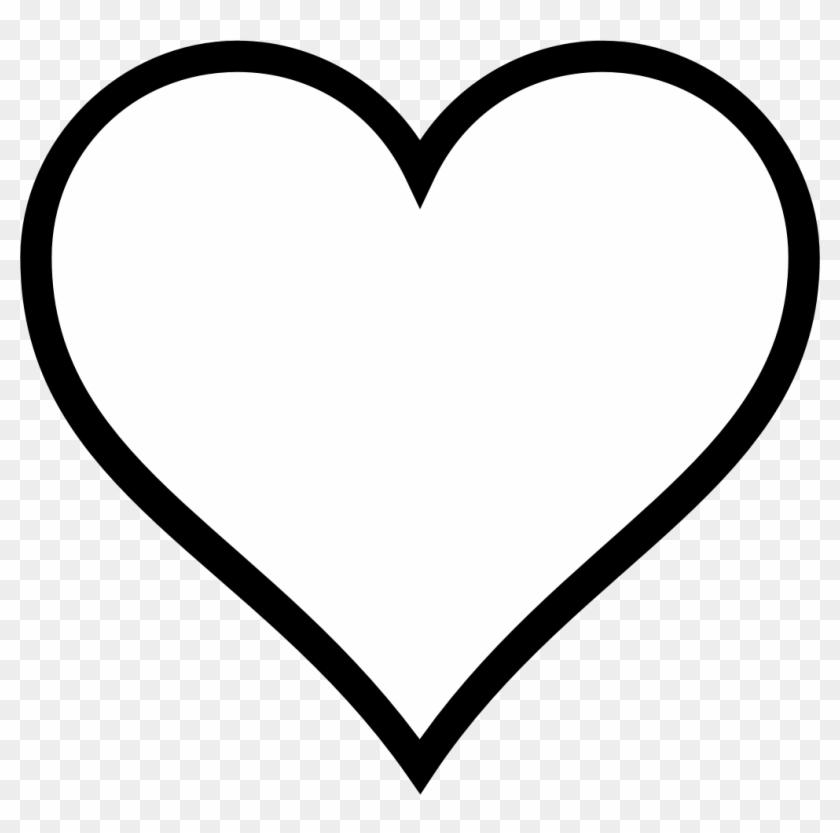 Heart Clipart Clipart Heart Outline - Imagenes De Un Corazon En Blanco Y Negro - Png Download #485248