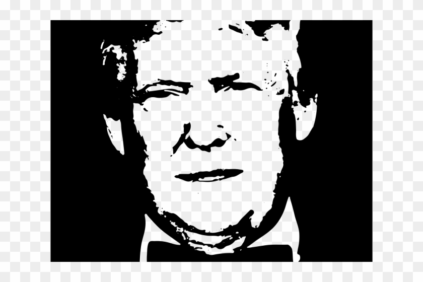 Head Clipart Donald Trump - Black And White Trump - Png Download #487313