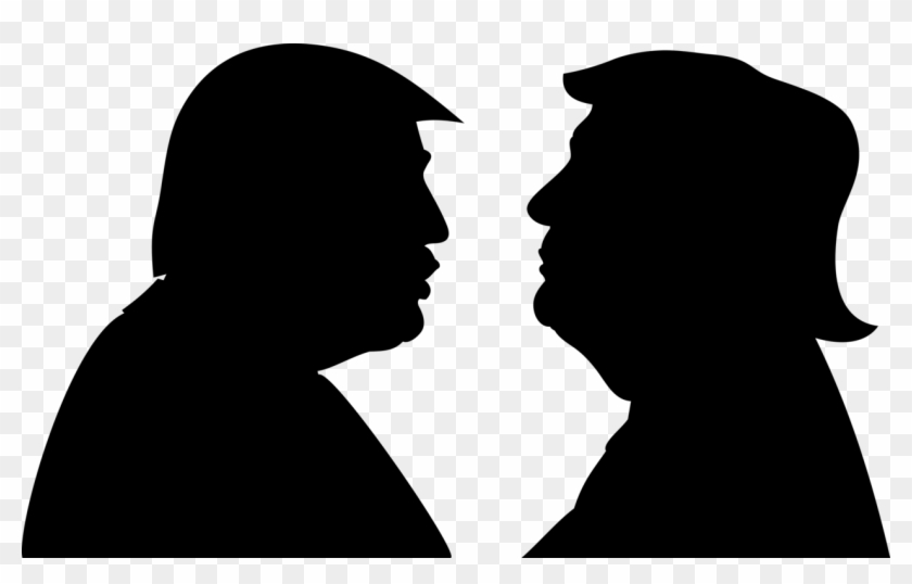 President Of The United States Silhouette Trump - Trump Silhouette Png Clipart #487760