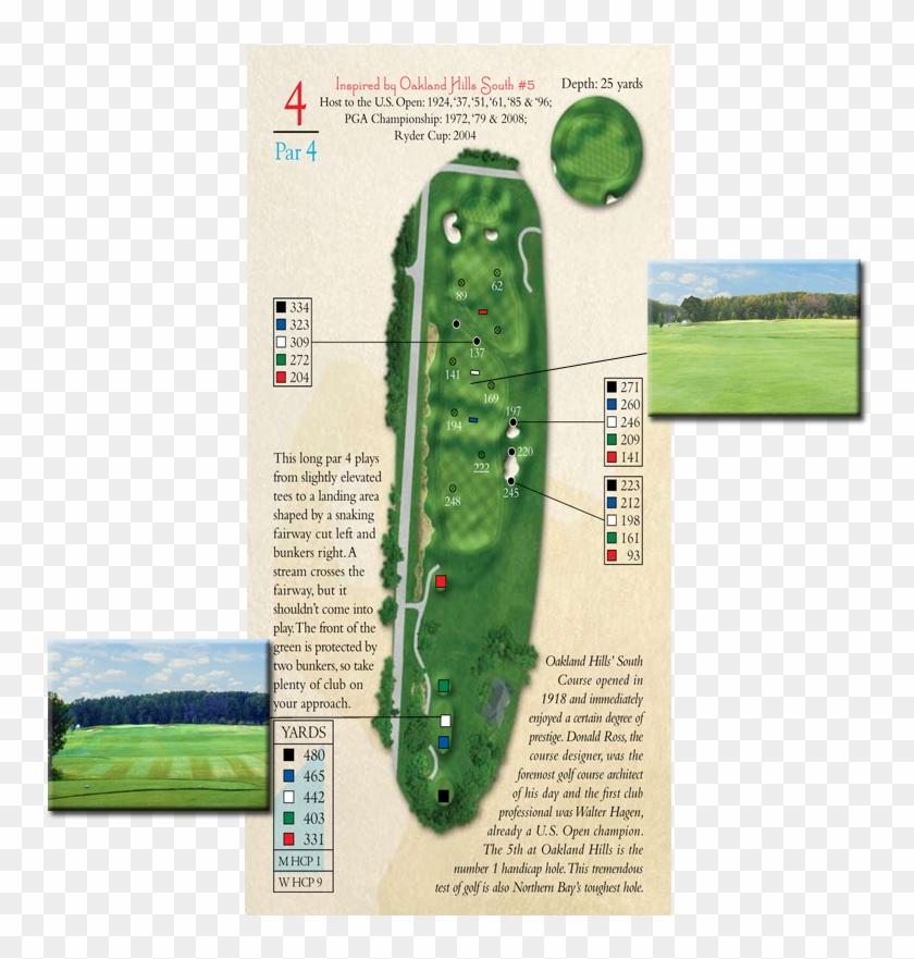 5th Hole Par - Golf Course Replica Clipart #4800579