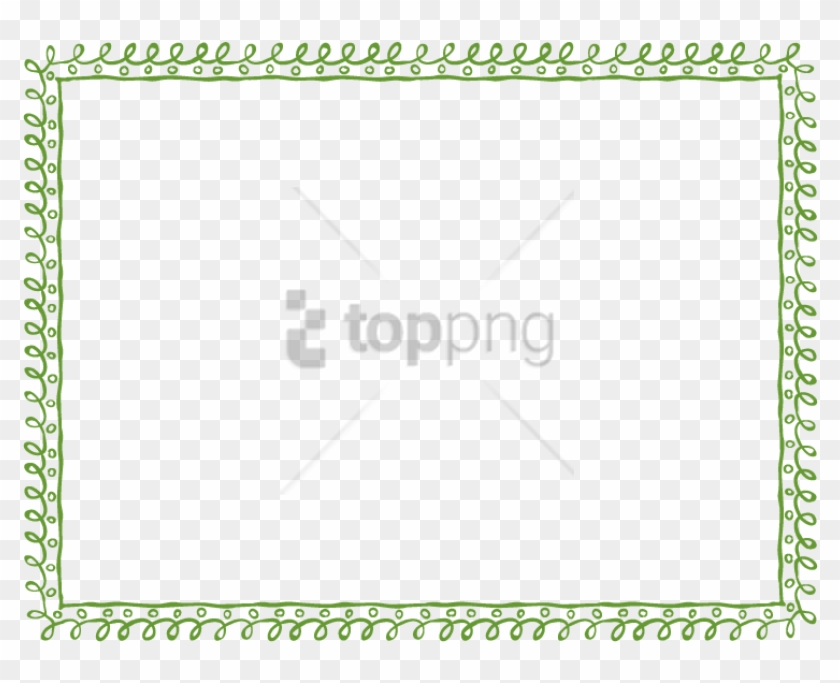 Free Png Green Borders Png Image With Transparent Background - Green Border Frame Png Clipart #4803880