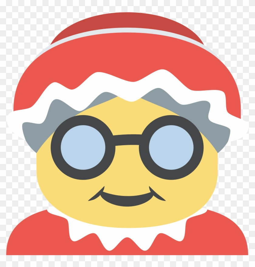 Free Download Mrs - Christmas Mrs Claus Emoji Clipart #4806103