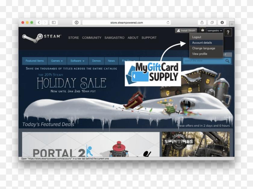 How To Redeem Steam Card Step - Seasonic Steam Gift Card Clipart #4810732
