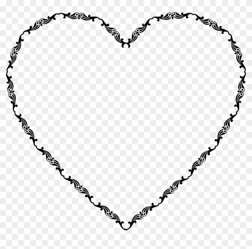 Picture Frames Borders And Frames Heart Frame Drawing - Elegant Heart Clipart Png Transparent Png #4832172