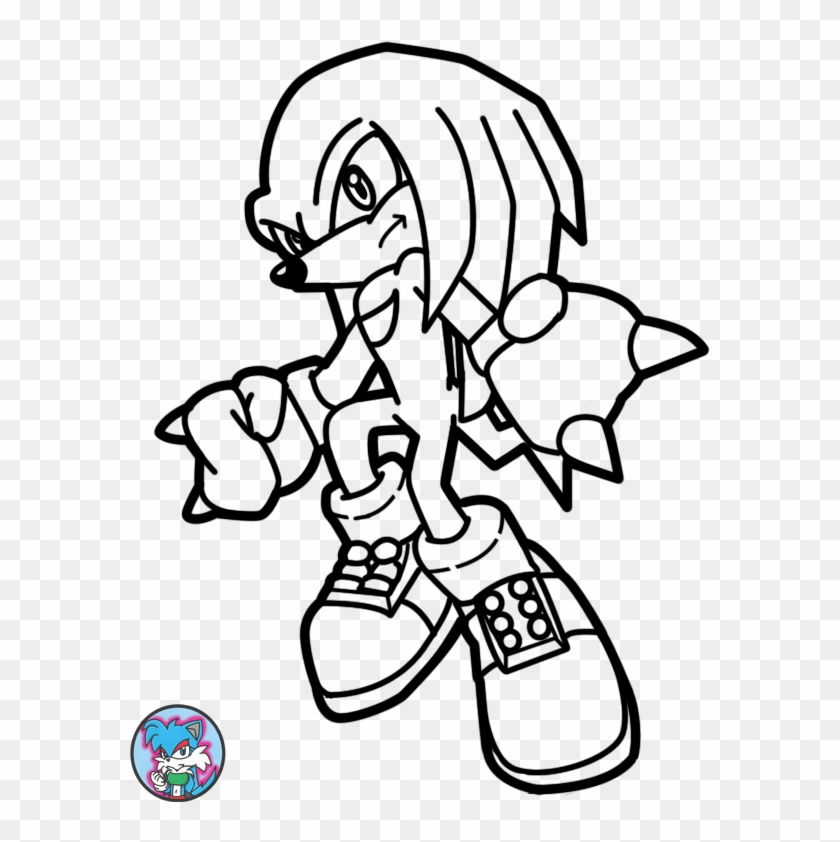 Sonic Coloring Pages Knuckles Coloring Home - Knuckles From Sonic Coloring  Page Clipart (#4837011) - PikPng