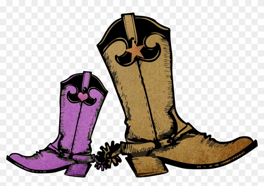 Download Boots - Purple Cowgirl Boots Cartoon Clipart Png ... - photo#26