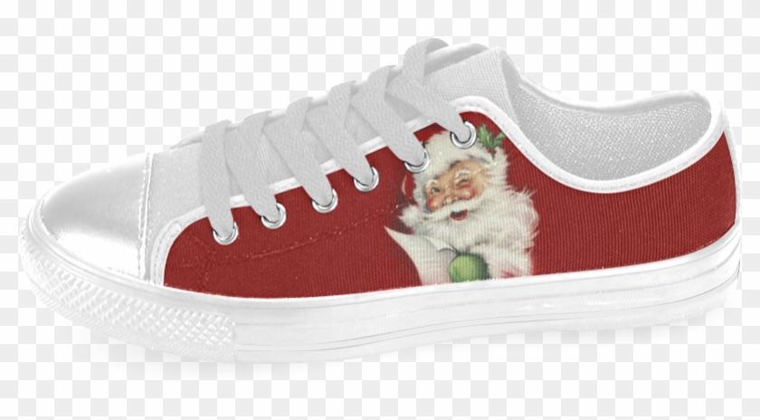 A Beautiful Vintage Santa Claus Men's Classic Canvas - Skate Shoe Clipart #4847285