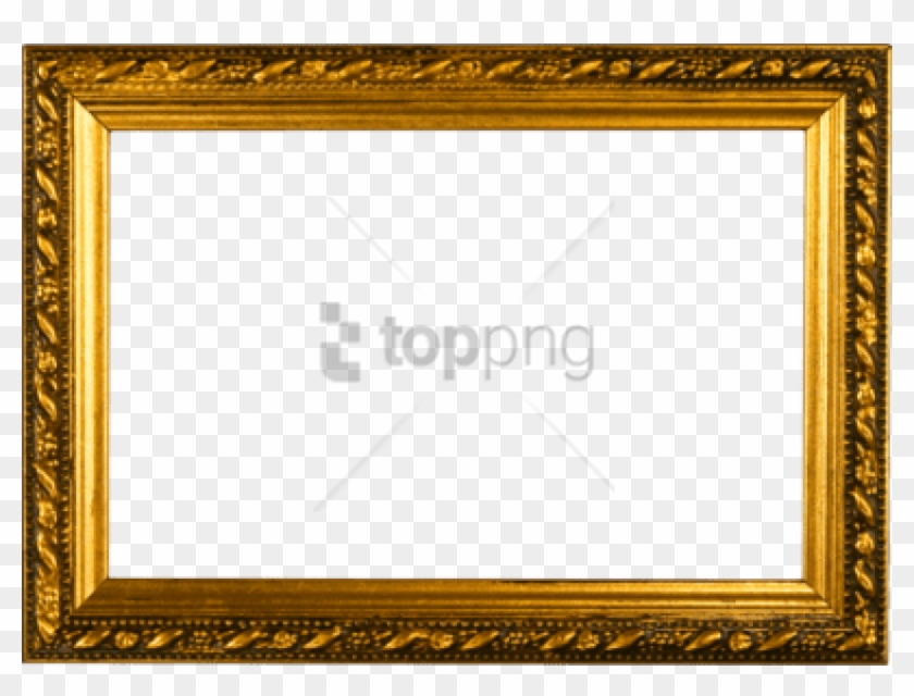 Free Png Gold Vector Border Png Png Image With Transparent - Gold Picture Frame Psd Clipart #4855365
