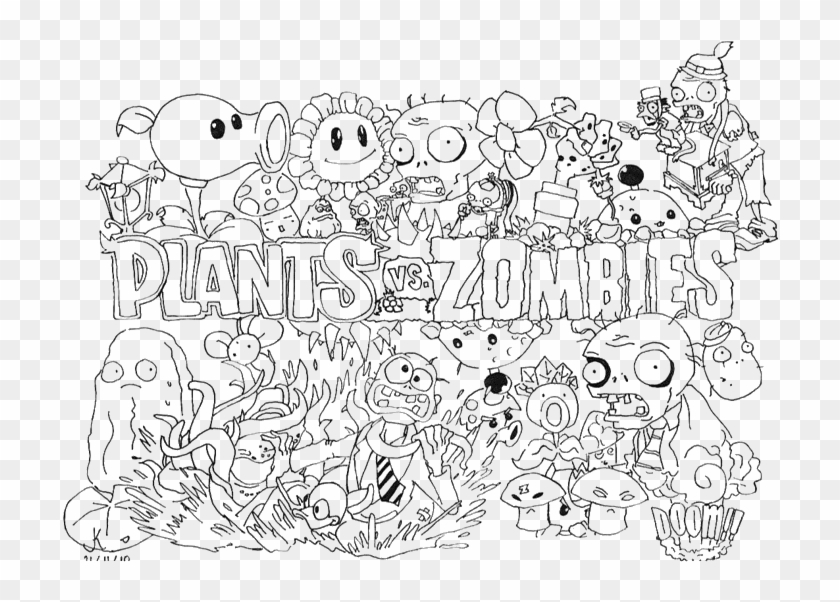 - Plants Vs Zombies Coloring Pages Drzomboss Coloring - Plants Vs Zombies  Coloring Pages Clipart (#4861648) - PikPng
