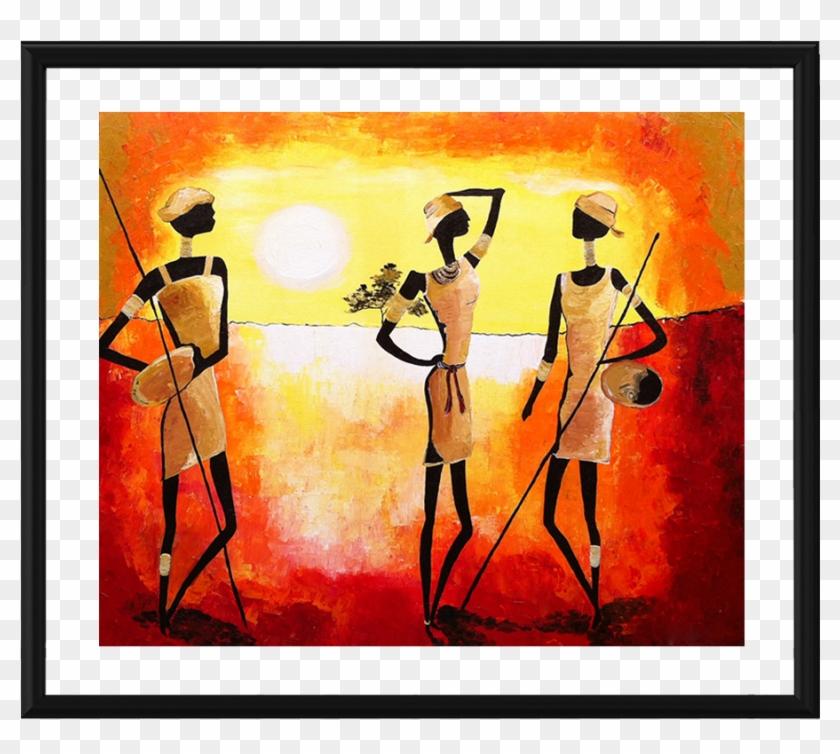 Scenic Art Photo Frame - Tribal Art In Tamil Nadu Clipart #4861807