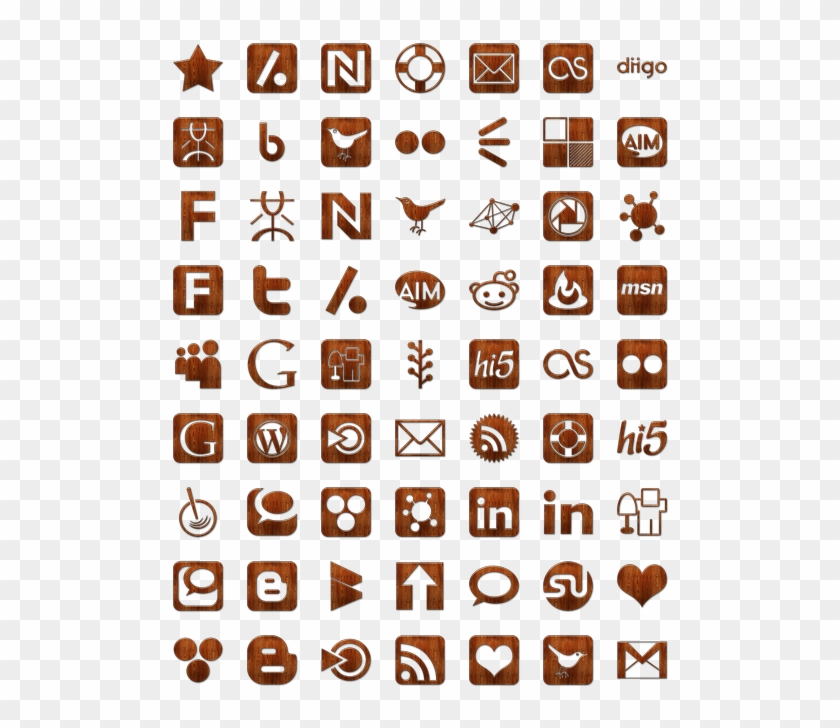 Search - Pack Icons Social Media Clipart #4895559