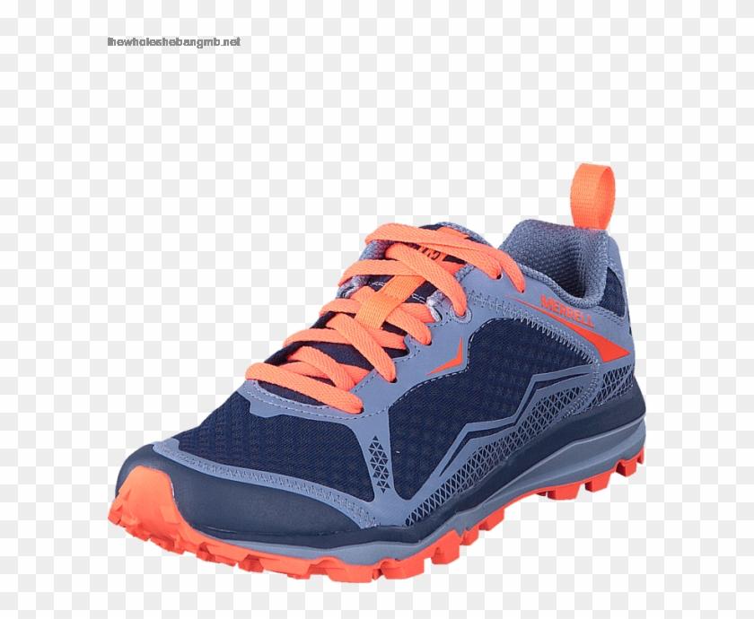 Women's Merrell All Out Crush Light Crown Blue - Running Shoe Clipart #4898437