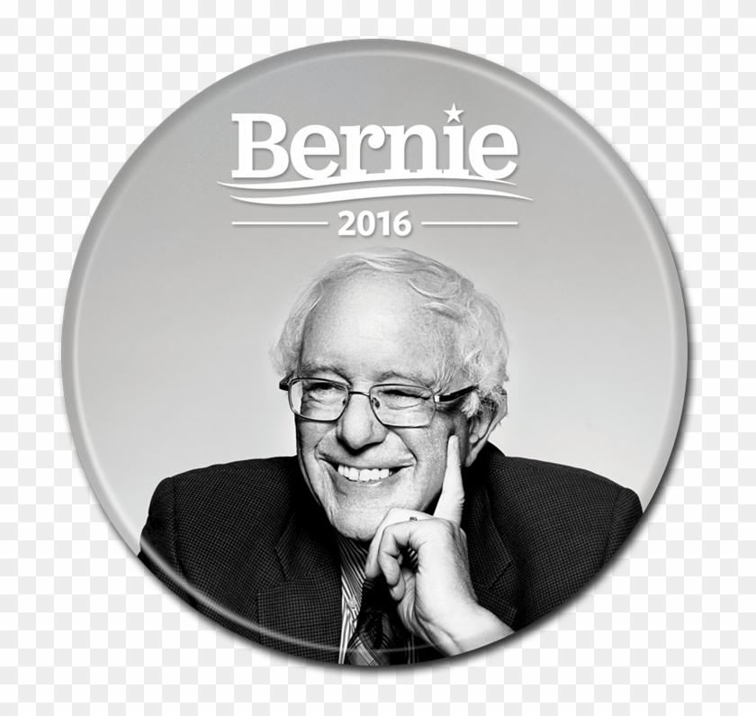 Bernie Sanders Button - Bernie Sanders Smiling Clipart #491637