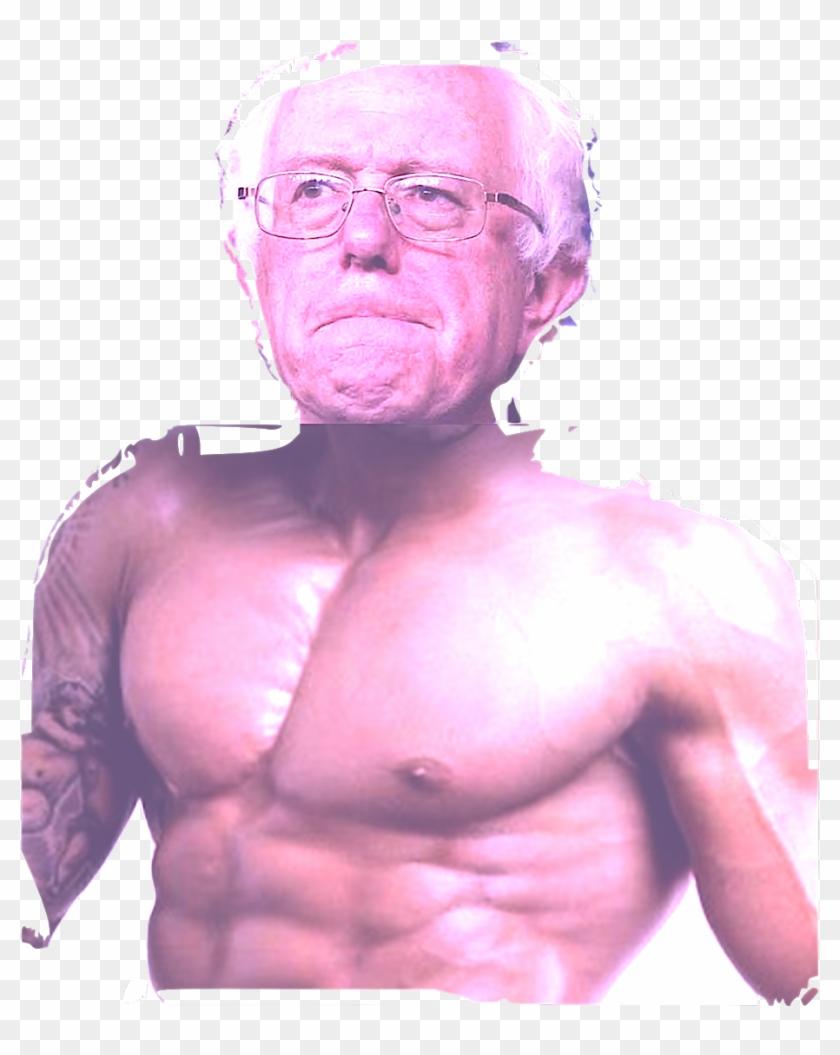 Bernie Sanders Looked So Stromo Atop The Pride Float - Bernie Sanders Transparent Head Clipart #491669