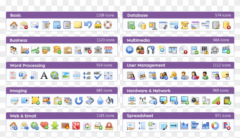 Ready To Use - Icons Of Different Software Found In A Windows Computer Clipart #493484
