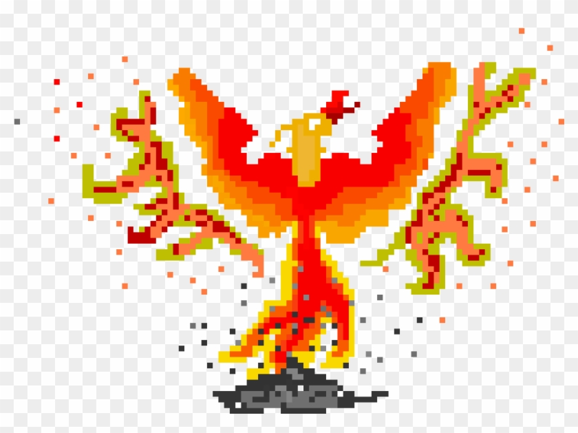 Phoenix - Phoenix Pixel Art Clipart #494376