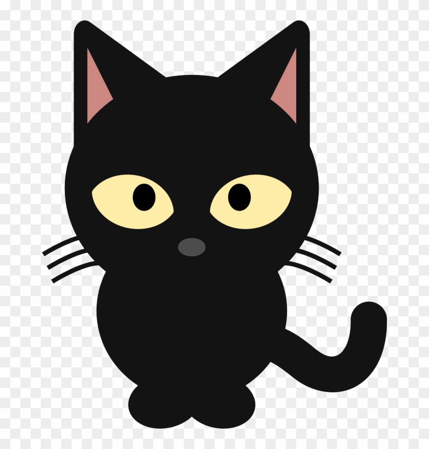 Pictures Of Anime Cats Cute Black Cat Clipart Png Download 495107 Pikpng