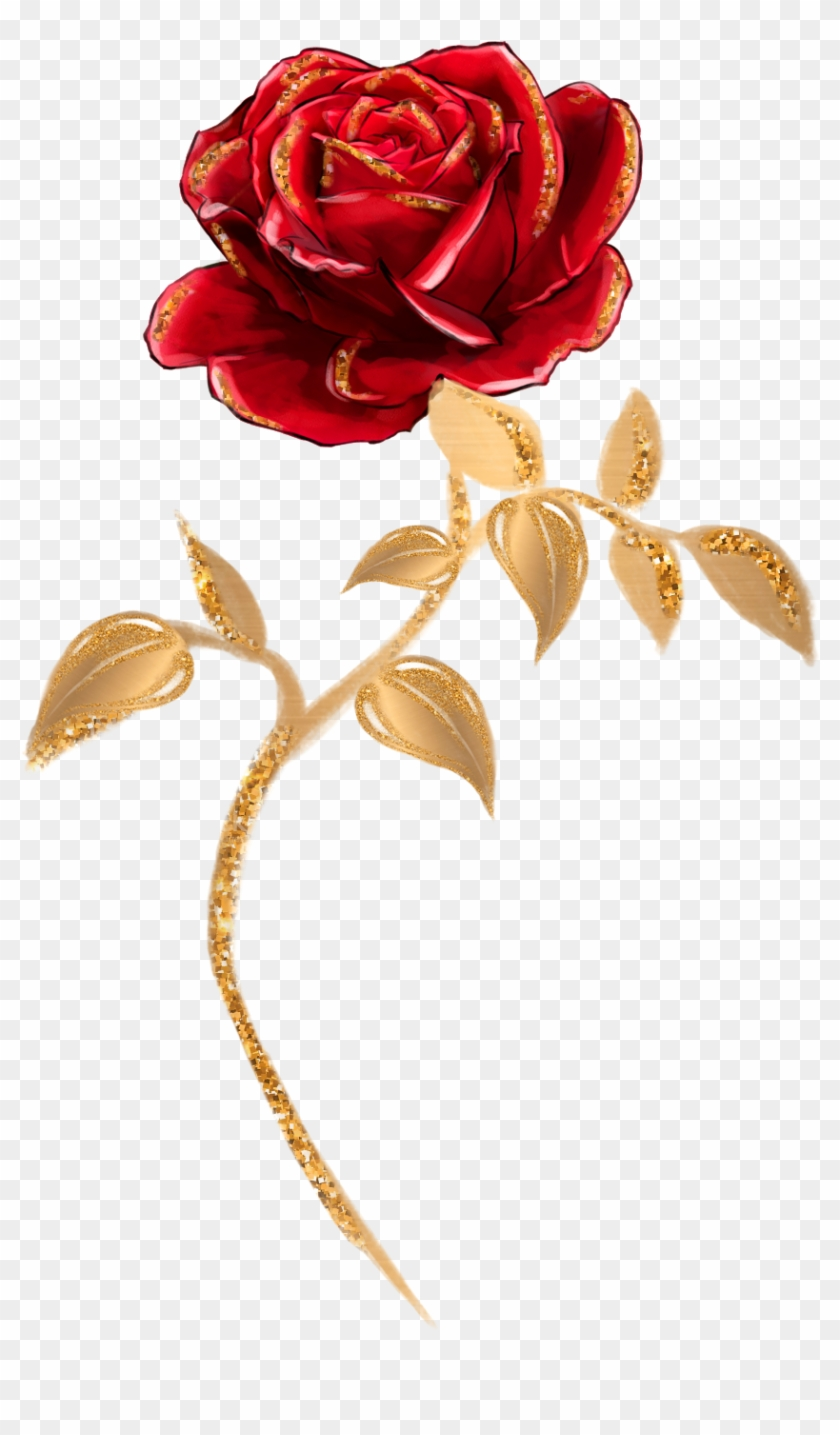 Beauty And The Beast Single Rose Clipart #495287