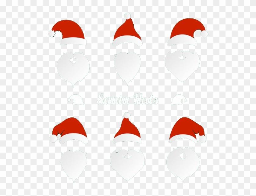 Santa Hat And Beard - Santa Hat And Beard Clipart - Png Download #497278