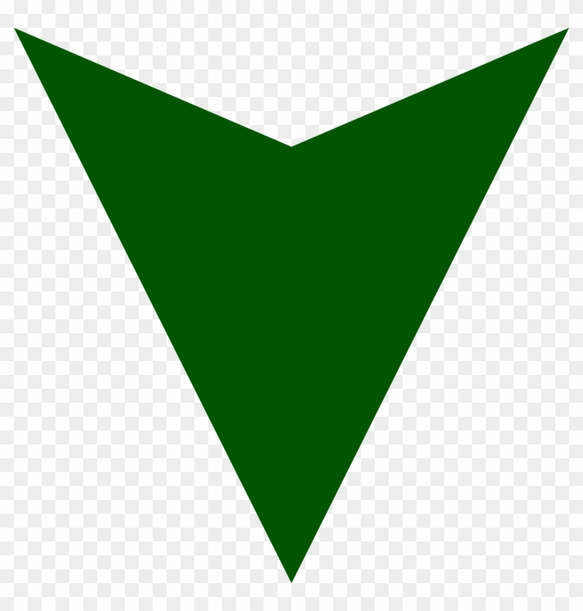 Dark Green Down Arrow - Green Down Arrow Icon Clipart #498397