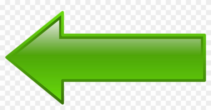 Pointer Clipart Green Arrow - Fleche Vert Png Transparent Png #498821