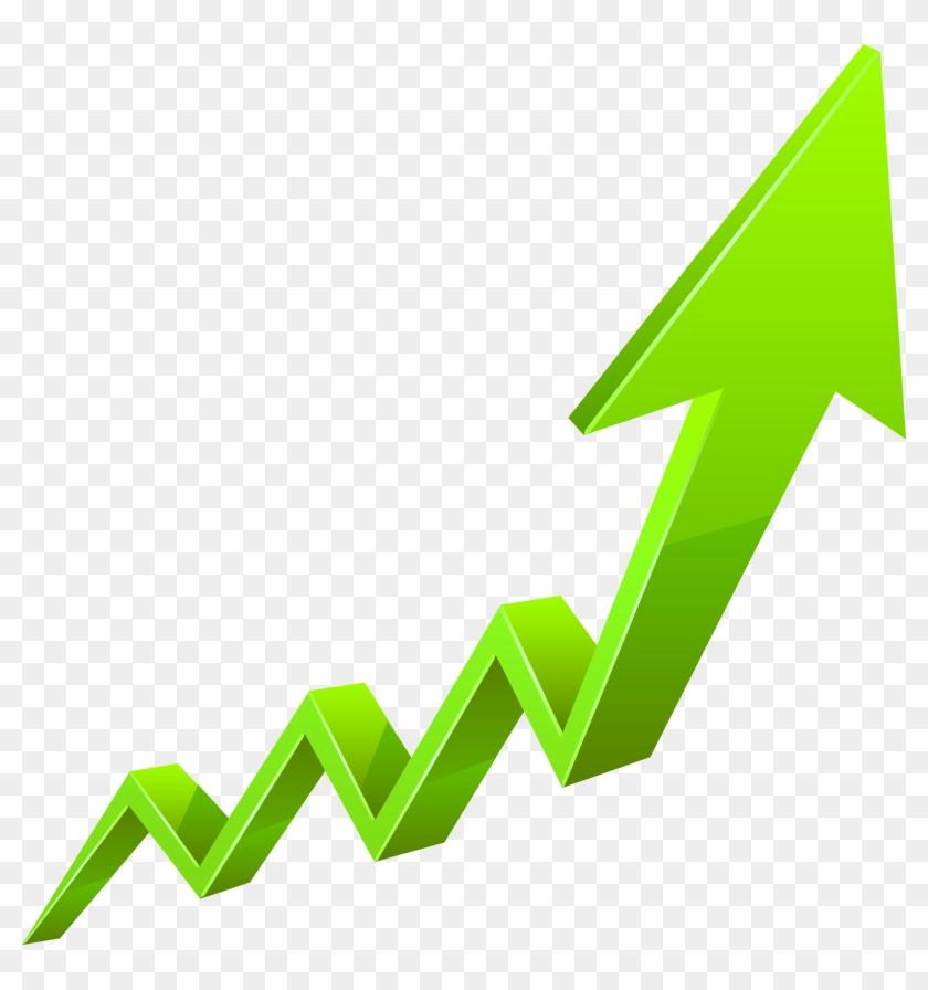 Increase Arrow Green Transparent Png Clip Art Image - Increase Arrow Transparent #498929