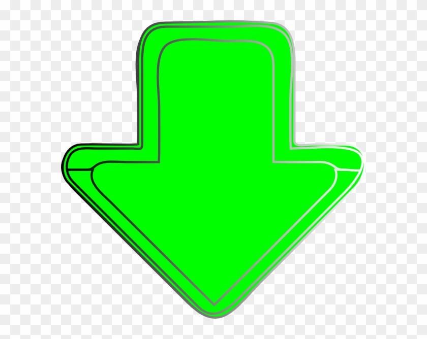 Green Arrow Down Png Clipart #498984
