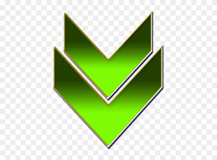Double Arrow Green - Double Arrow Green Png Clipart #499039