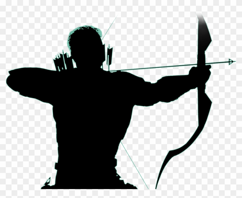 "Green Arrow - "" - Green Arrow Silhouette Transparent Clipart #499186"