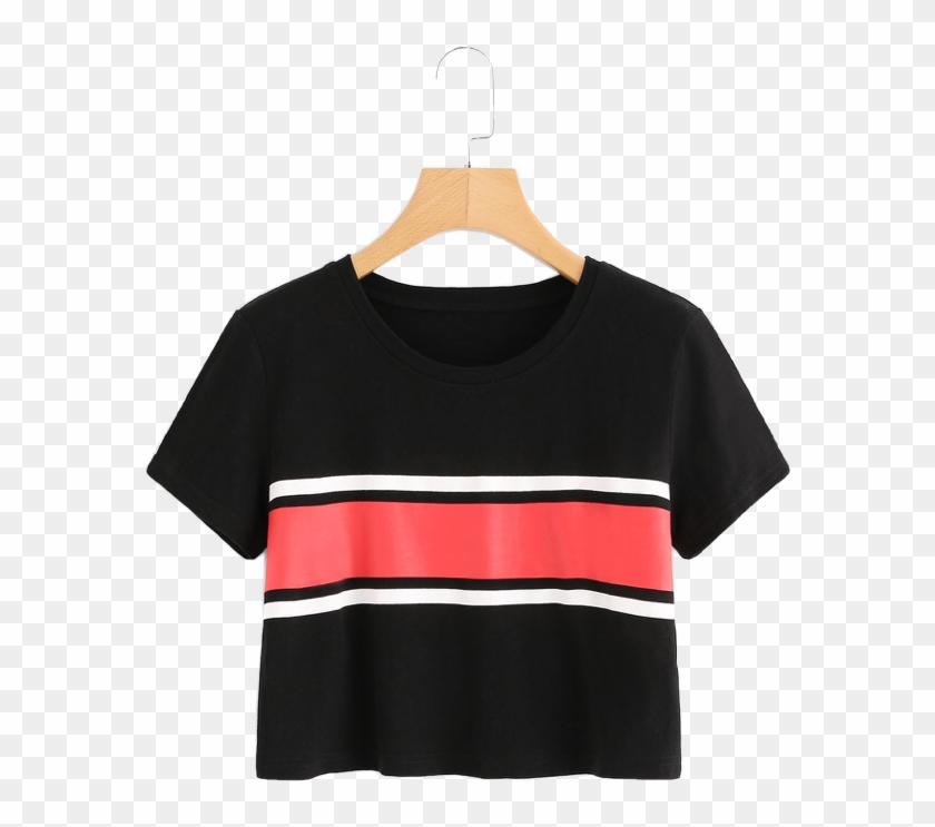 #aesthetic #brandy #brandymelville #blackandred #shirt - Clothes Hanger Clipart #4901274