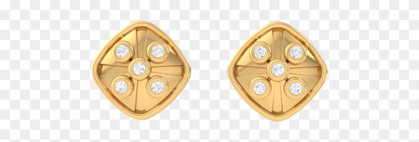 Dan Ear Studs For Men - Mens Gold Earring Png Clipart@pikpng.com