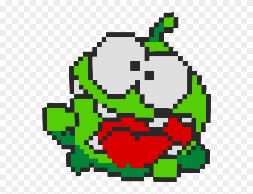 Om Nom From Cut The Rope - Laughing Crying Emoji Pixel Art Clipart #4912523