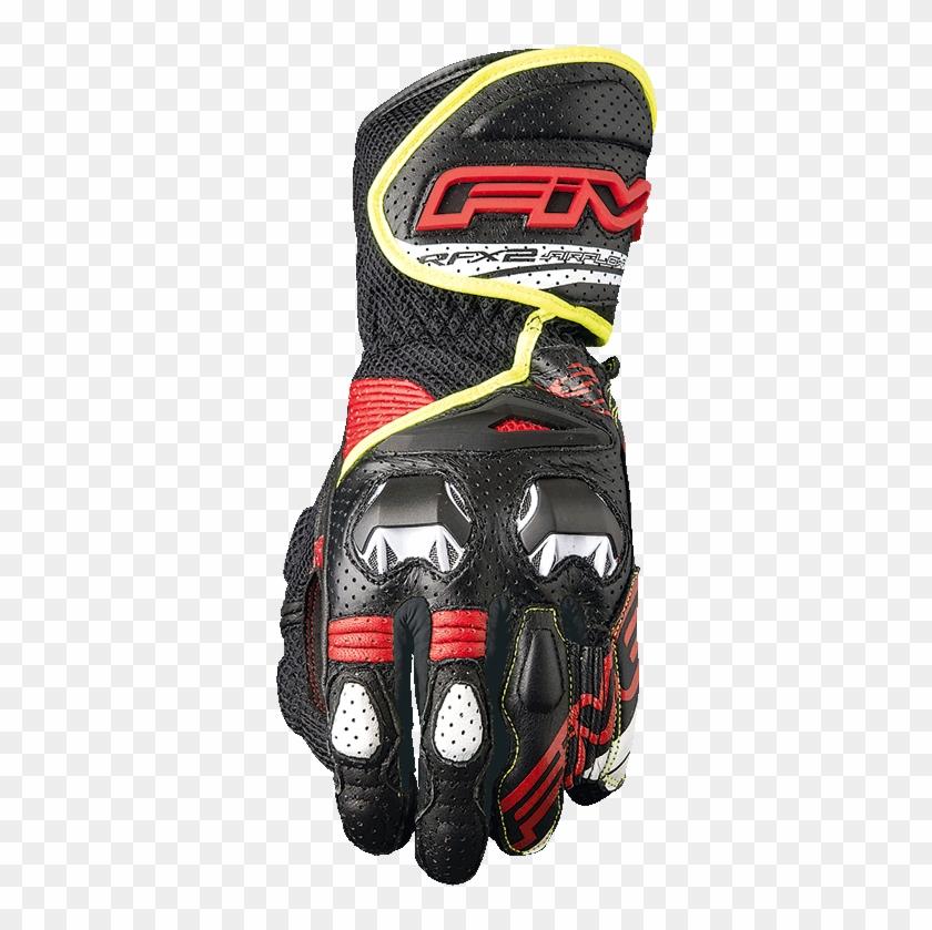 Rfx2 Airflow Black / Fluo Yellow - Five Gloves Rfx2 Airflow Clipart #4919733