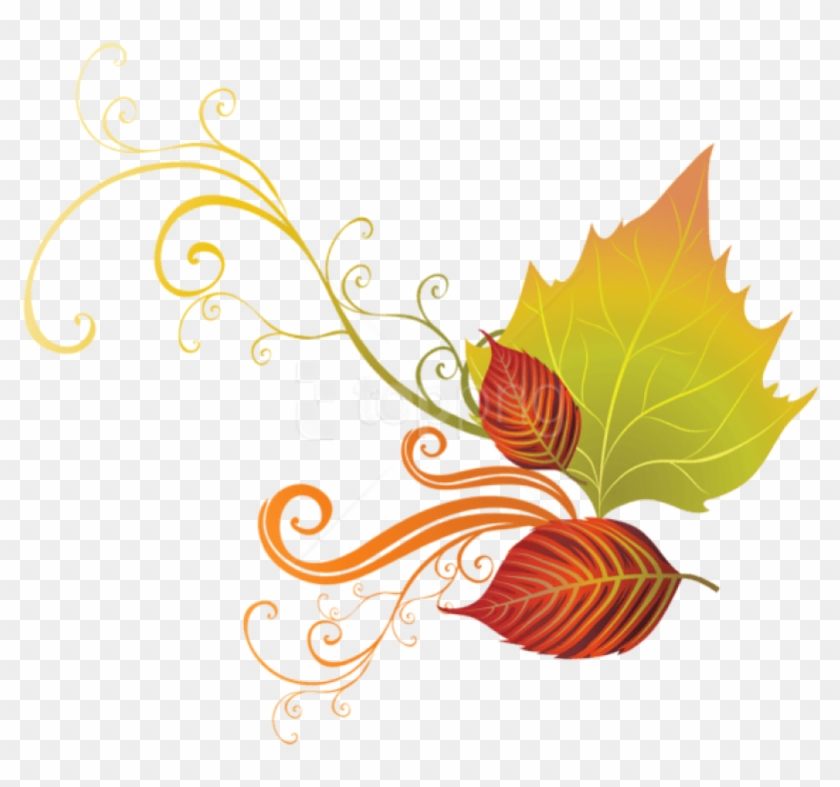 Free Png Download Fall Leaves Decor Clipart Png Photo - Autumn Corner Clipart Free Transparent Png #4919774