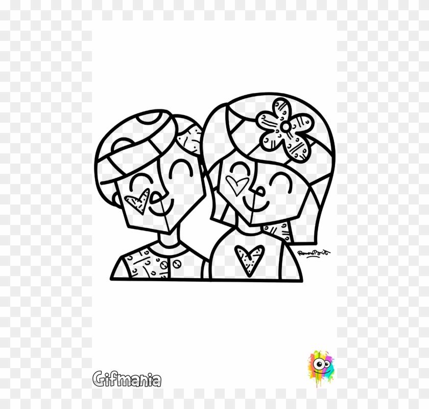 Romero Brito Para Colorir Clipart 4926296 Pikpng