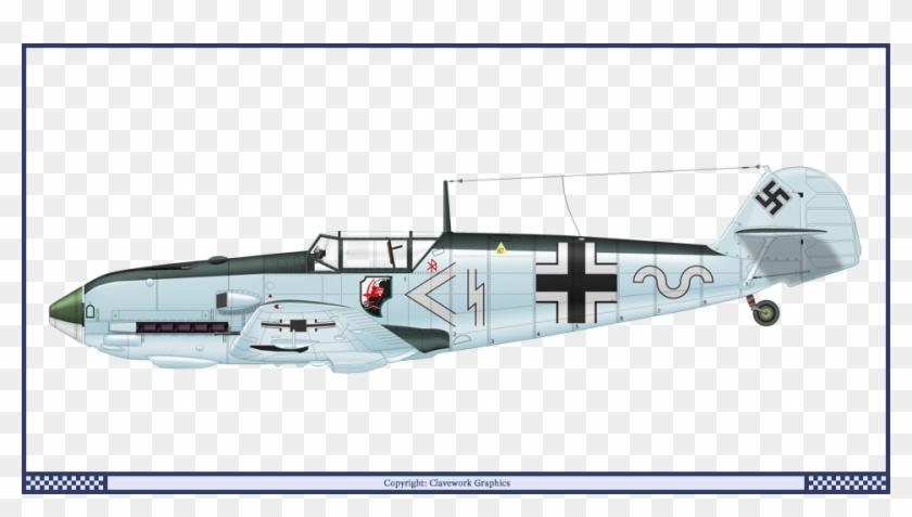 German Bf 109 E3 Stab1 Jg1 - Messerschmitt Bf 109 3 View Clipart #4933622