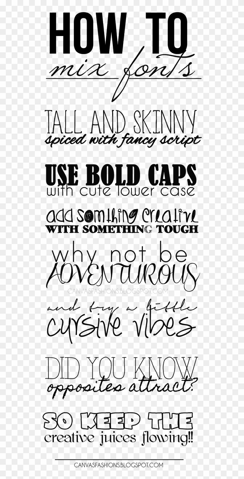When It Comes To Fonts We Sometimes Don - Hand Lettering Mixing Fonts Clipart #4940589