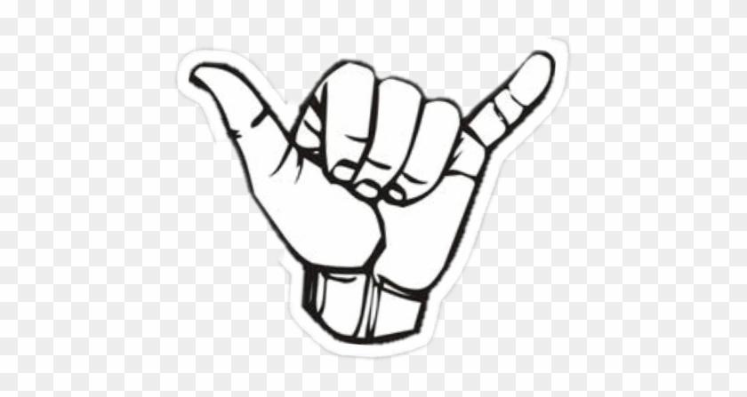 #hand #brandymelville #stickers #sticker #freetoedit - Shaka Sign Clipart #4941175