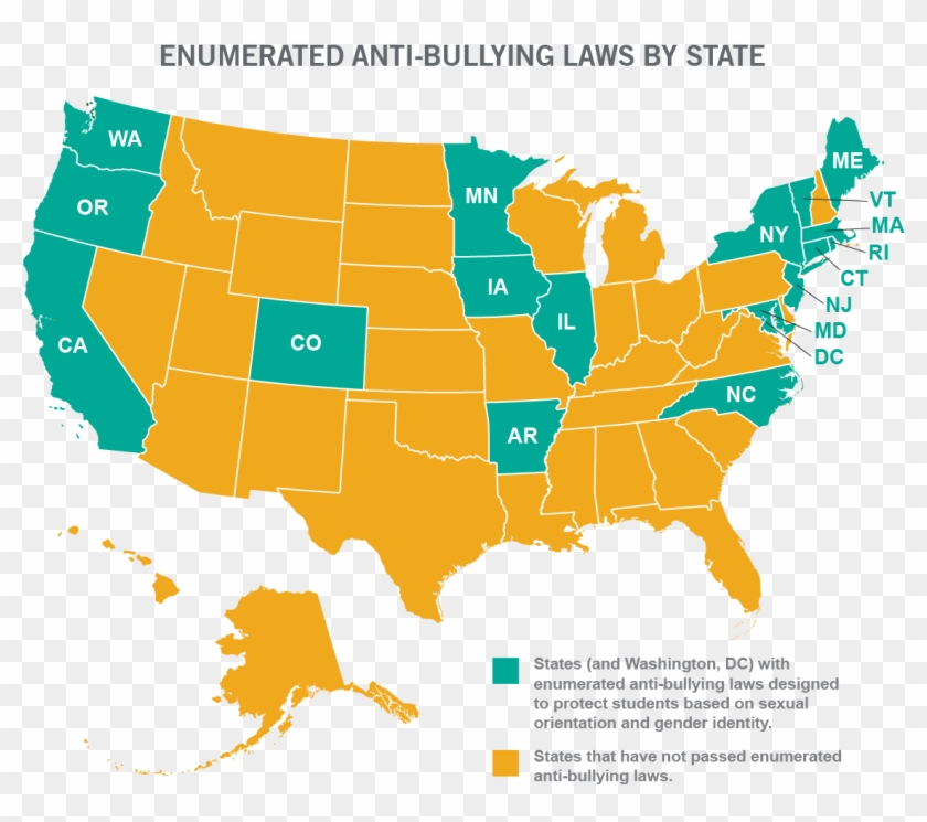 South America Map Bully 33 States Don T Protect Lgbt - Number Of Senators From Each State Clipart #4942472