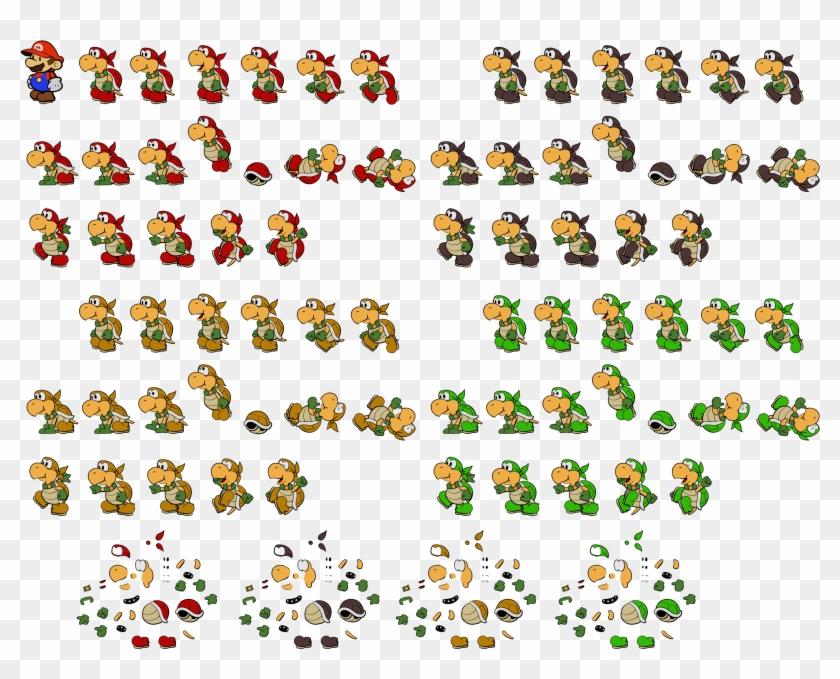 Mario Koopa Sprite Snes Png Mario Bros Koopa Sprites Clipart