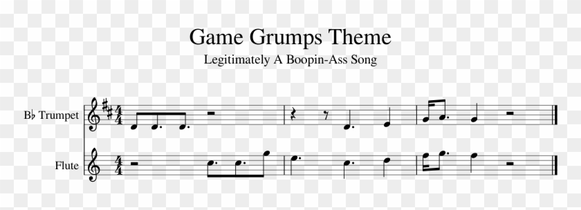 Game Grumps Theme Sheet Music 1 Of 1 Pages - Game Grumps Piano Notes Clipart #4967478