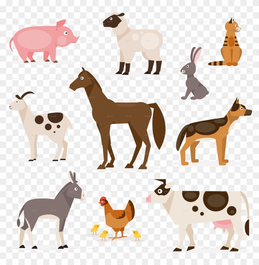 Farm Animals Png Farm Animal Vector Png Clipart 4980699 Pikpng