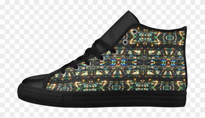 Glitzy Sparkly Mystic Festive Black Glitter Ornament - Basketball Shoe Clipart #4982307