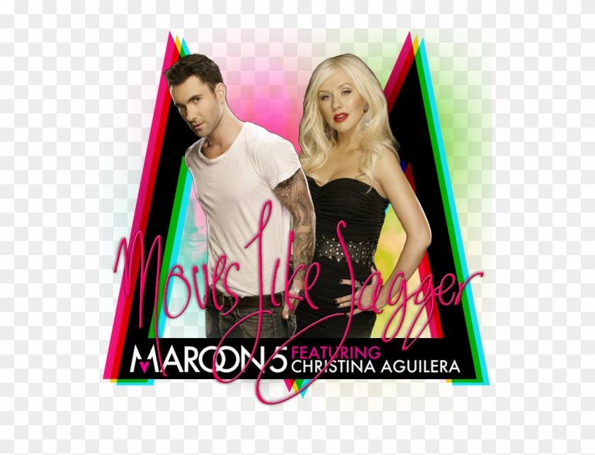 Maroon 5 Featuring Christina Aguilera Moves Like Jagger Maroon 5 Featurin Ft Christina Aguilera Clipart 4982575 Pikpng