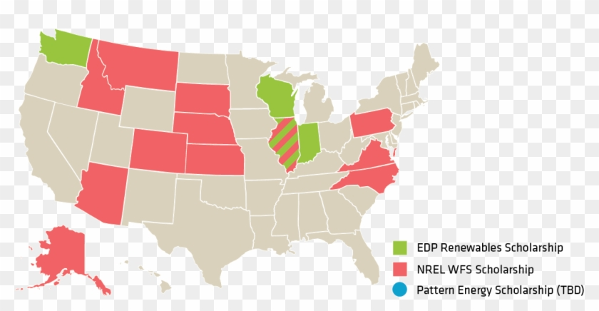 Scholarship Locations - 2016 Presidential Election Map Clipart #4998576